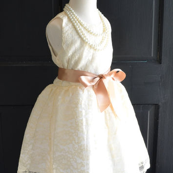 Vintage Inspired Ivory Lace Dress