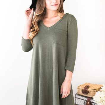 Bailey Washed French Terry Dress