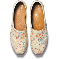 Toms Tyler Ramsey Speckled Dot Women's Classics Shoes Slip Ons Artist Collection