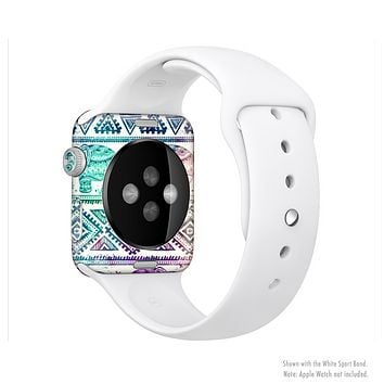The Tie-Dyed Aztec Elephant Pattern Full-Body Skin Set for the Apple Watch