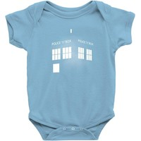 Tardis Doctor Who Baby Onesuit