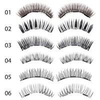 1 Set Makeup 3D Triple Magnetic False Eyelashes Natural Soft Thick Long Magnet Eye Lashes Fake Eyelashes Extension Beauty Tools