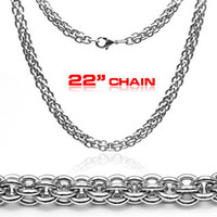 Triple Boa - Tri Circle Stainless Steel Modern Touch Classic Design Necklace