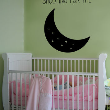 Vinyl Wall Decal Sticker Shoot for the Moon #OS_MB1158