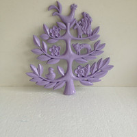Vintage 1963 Homco Tree of Life Wall Hanging by IntenseInteriors