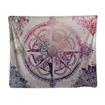 Fashion Mandala Paisley Elephant Tapestry 142x148cm 56x58inch Polyester Wall Carpet Decorative Blanket Art India Thailand