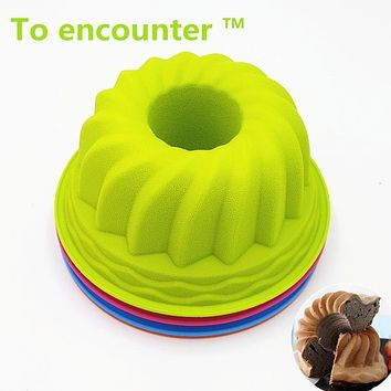 To encounter 23.5*10.5CM 210G Big Pumpkin Shape Silicone Baking Mold 3D Cake Pan Silicone Cake Mold Baking Tools For Bakeware