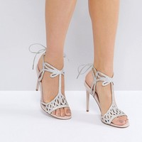 Faith Fizz Cutout Heeled Sandals at asos.com
