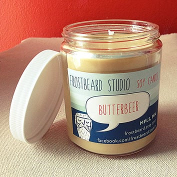 Butterbeer Soy Candle - Harry Potter - 8oz jar