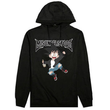 Misunderstood Goku Cut And Sewn Black French Terry Hoodie - 1 Left!