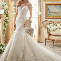 Very Romantic Alencon Lace Bridal Dress | Style 2871 | Morilee