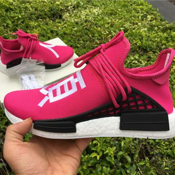 ADIDAS X PHARRELL PW HUMAN RACE NMD BB0621 BOOST PINK Running shoes for Women & Men Size: 36--46