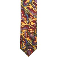 J. Garcia Collector's Edition Novelty Wide Silk Tie - Multicolor
