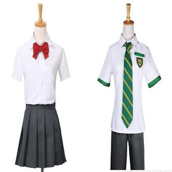 Anime Kimi no Na wa Your Name Tachibana Taki Cosplay Costumes Miyamizu Mitsuha Cosplay Men's School Uniform Outfit