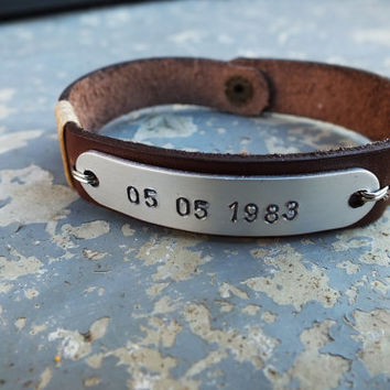 Boyfriend Gift, Mens Bracelet, Women Bracelet, Date Bracelet, Gift For Women, Anniversary Gift For Him, Leather Bracelet For Men