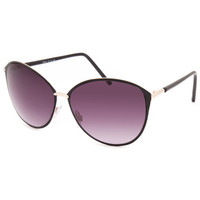 Full Tilt Kensington Cateye Sunglasses Black One Size For Women 25585610001