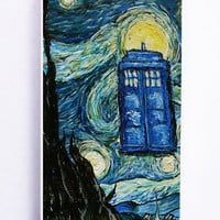 Tardis Doctor Who Starry Night for Iphone 5 / 5s Hard Cover Plastic