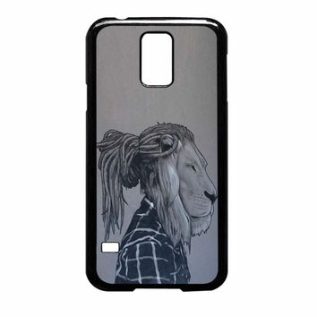 Rock Rasta Reggae Bob Marley Beads Dreadlock African Lion Samsung Galaxy S5 Case