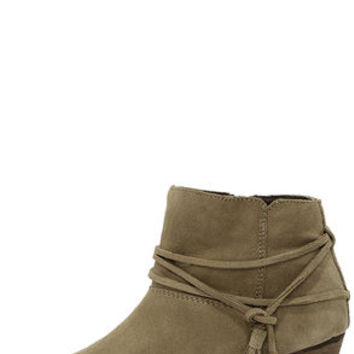 Chelsea Crew Bash Taupe Suede Leather Booties