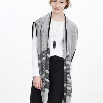Heritage Blanket Stripe Sweater Cape