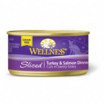 Wellness Sliced Turkey Salmon Dinner Cat Food