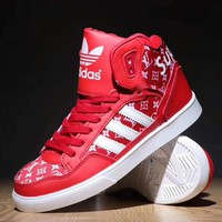 Adidas LV Supreme Fashion Casual High Tops Running Sport Shoes Sneakers For Women Men BlackG-SSRS-CJZX