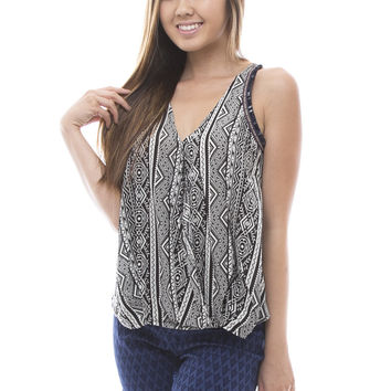 Tribal Print Sleeveless Tank Top