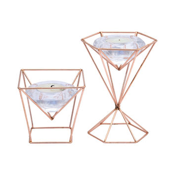 Ten Carat Tealight Holder - Set of 2