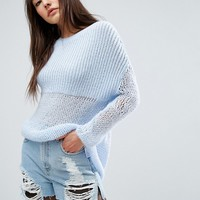 ASOS Oversized Jumper In Chunky Open Knit at asos.com