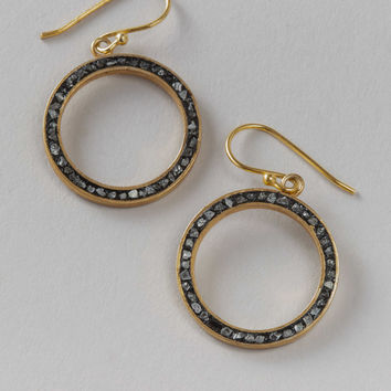Haya Elfasi Earrings in Sterling Silver & 24 Kt Gold Plated