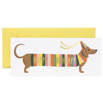 Hot Dog Happy Birthday Card