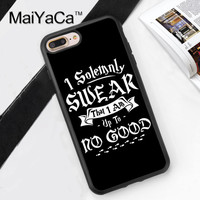 Harry Potter I Solemnly Swear Printed Soft Rubber Mobile Phone Cases For iPhone 6 6S Plus 7 7 Plus 5 5S 5C SE 4 4S Cover Shell