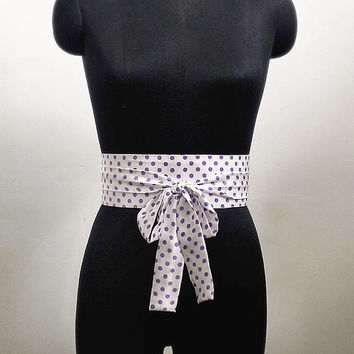 Satin Obi Belt Sash Cummerbund Waist Cincher Polka Dot Corset Belt Wrap Belt Waist Cinch Belts Wedding Sashes Womens Handmade Accessories