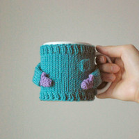 Cozy Mug Sweater, in Aqua blue