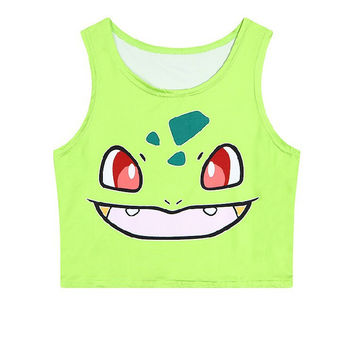 Summer Crop Top Slim Sleeveless Pets Tank Top = 4824051844