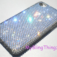 Luxury Clear Crystal Diamond Rhinestone BLING Back Case for Apple iPhone 5 handmade using Swarovski Elements