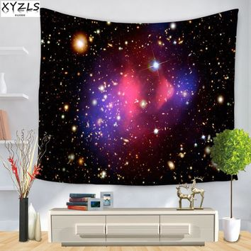 XYZLS 150*200cm Universe Wall Tapestry Star/Moon Home Decoration Tapestry Creative Beach Towel  Yoga Mat Sofa Cover 150*130 cm