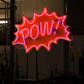 POW! - Pop Art Neon Sign