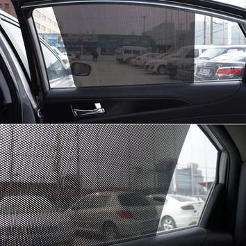 2Pcs Car Sunshade Electrostatic Shading Side Window Curtain Matched Glass Lifting Car Wrap Sheet Roll Film Sticker Drop Shipping