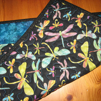 Bright Dragonfly Quilted Placemats