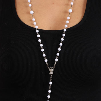 The Classic Rosary in White