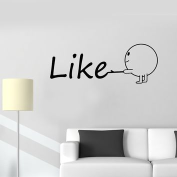 Wall Decal Like Smile Inscription Word Positive Cheerful Vinyl Sticker (ed1184)