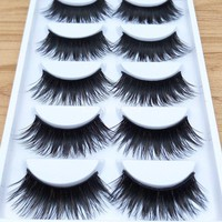 YOKPN New Color Exaggerated False Eyelashes Brown Black Thick Cross False Eyelashes Stagecraft Makeup False Eyelashes