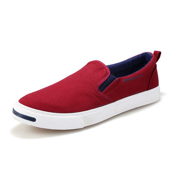 Summer Canvas Men Flat Permeable Casual Shoes = 6450095427