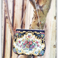 1950's Tapestry Purse or Clutch Collectables