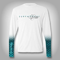 Mermaid Scale Sleeve Shirt -  SurfMonkey - Performance Shirts - Fishing Shirt
