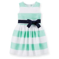 Crepe Striped Easter Dress