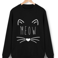 Cats Cartoon Loose Large Size Meow Sweater Sweater B0014244