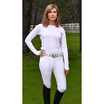 RideTex® Full Seat Competition Breeches - White