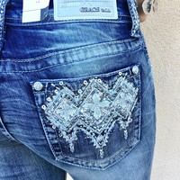GRACE IN L.A. ICICLE EASY BOOTCUT JEANS